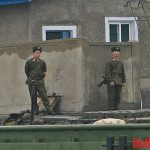 North Korean soldiers in Sinuiju