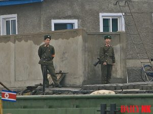 North Korean soldiers in Sinuiju covid-19