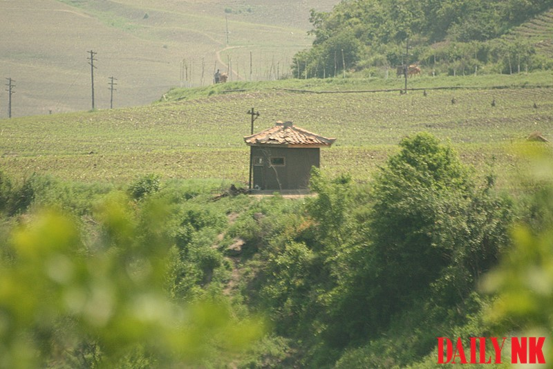 Guard post on Sino-North Korea border
