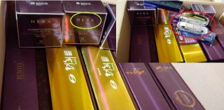 Popular South Korean cosmetics on offer in North Korean markets