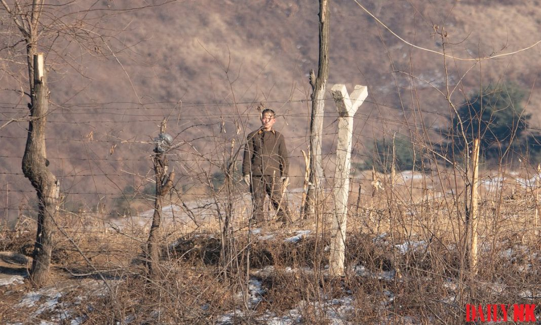 A North Korean border guard in North Pyongan Province (taken in February 2019).