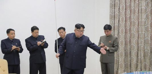 Kim Jong Un in Sinuiju on November 16 to review major development plans for the city.