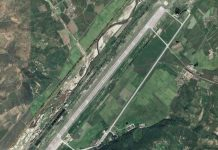 Satellite imagery of Toksan Air Base, located in Hamhung, South Hamgyong Province