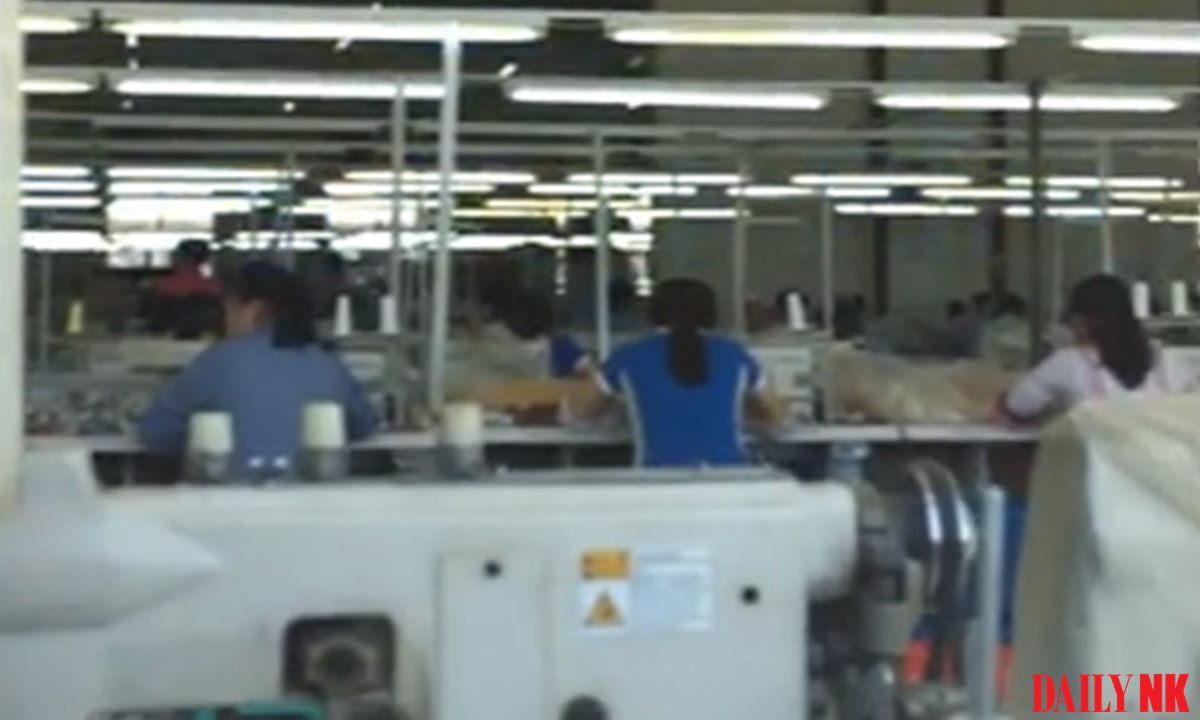 North Korean workers at a textile factory in Jilin, China in 2017