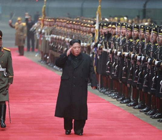 Kim Jong Un upon his return to North Korea from the Hanoi summit