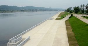 Taedong River in North Korea