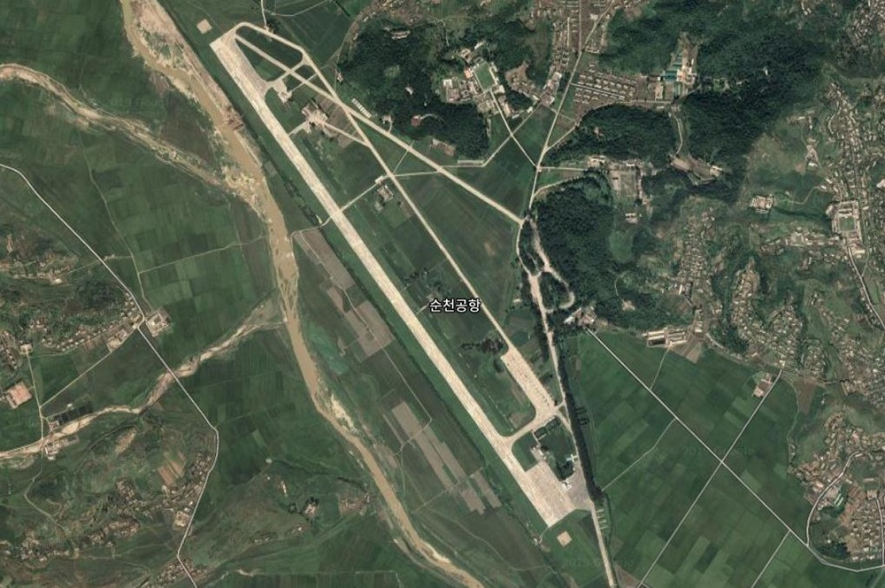 Satellite imagery of Sunchon Air Base