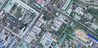 Satellite imagery of Hungnam Fertilizer Complex