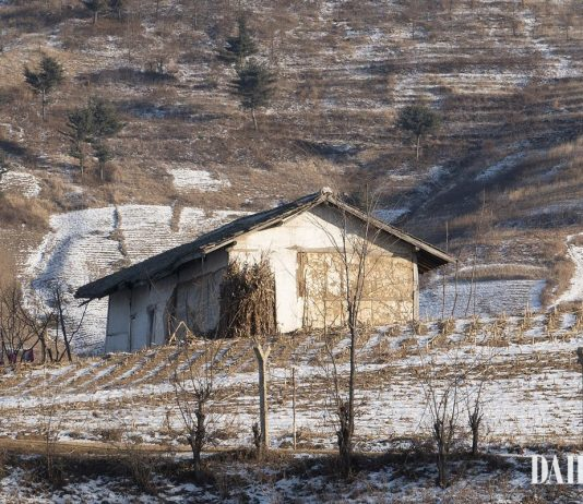 A scene from Sakju County, North Pyongan Province