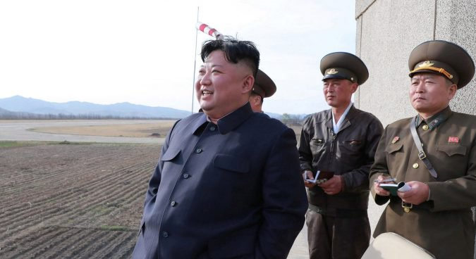 Korean Central News Agency (KCNA) released this photo of Kim Jong Un on April 17, 2019