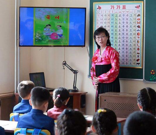 Elementary school in North Korea schools reopen