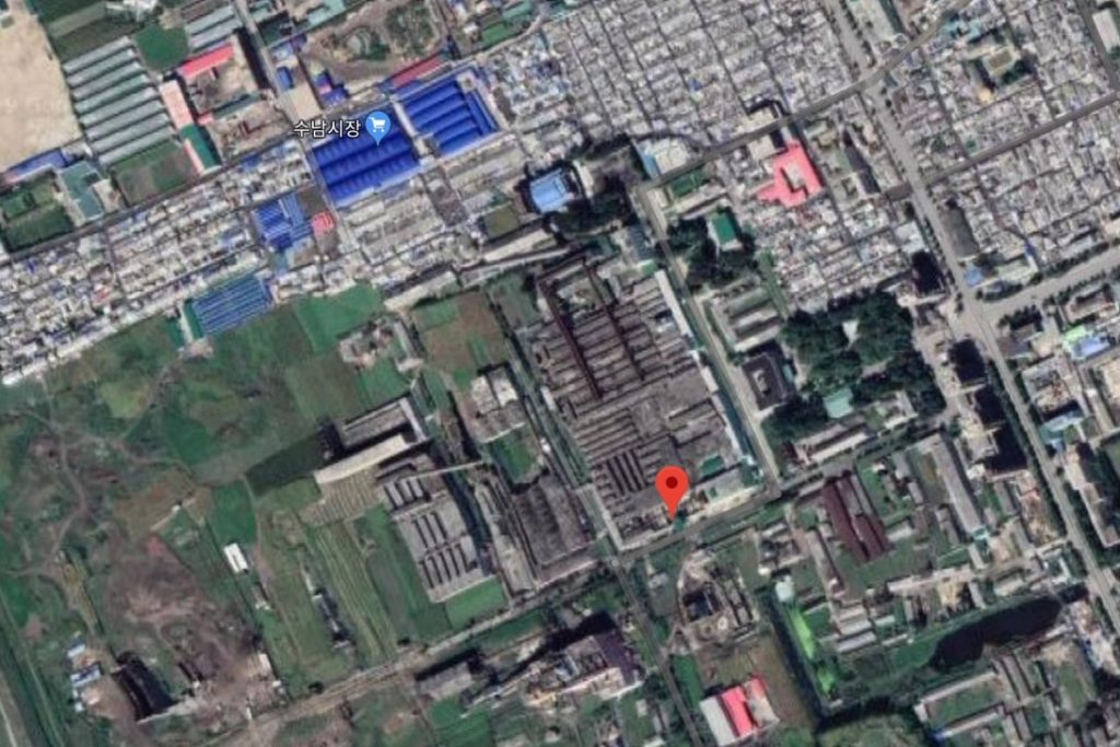 Chongjin Chemical and Textile Factory satellite imagery