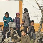 Market official on patrol in Sunchon, South Pyongan Province