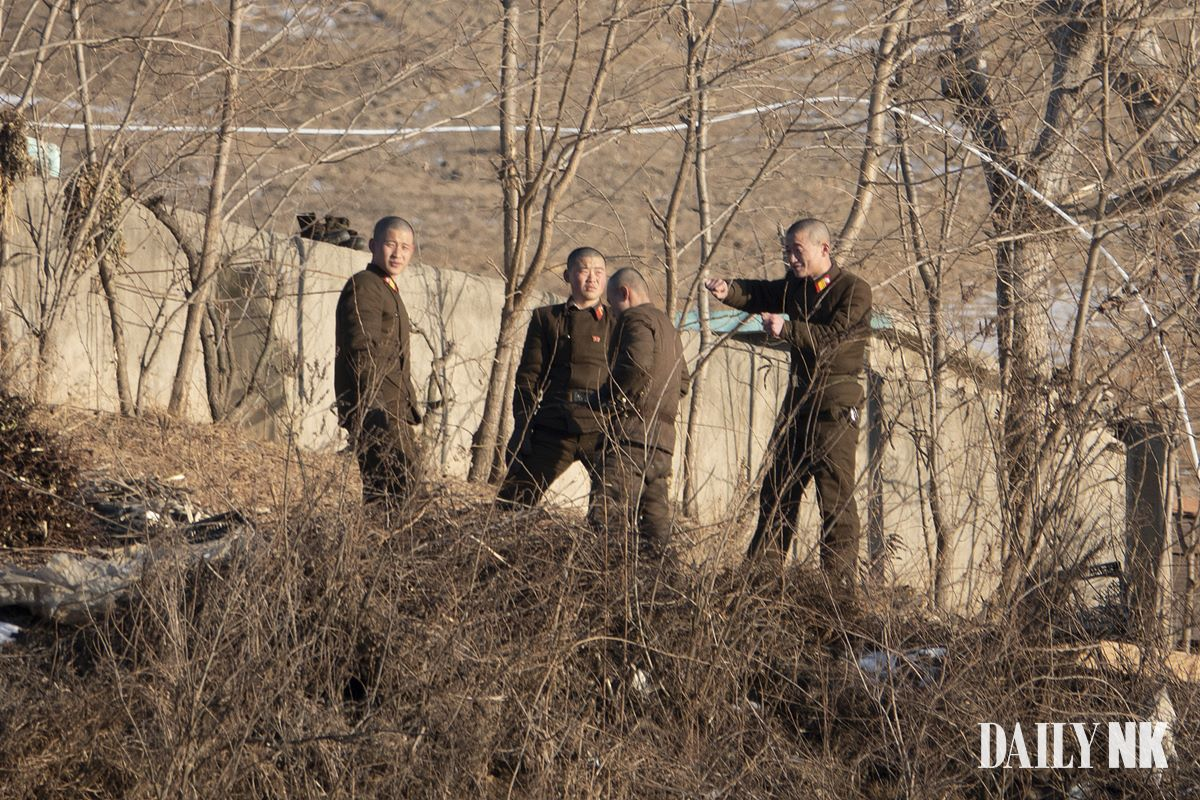 North Korean soldiers in Sakju County, North Pyongan Provinc