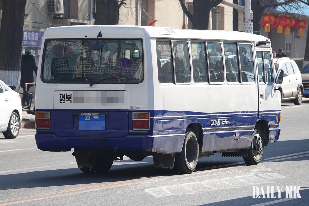North Korean vehicle in Dandong, China