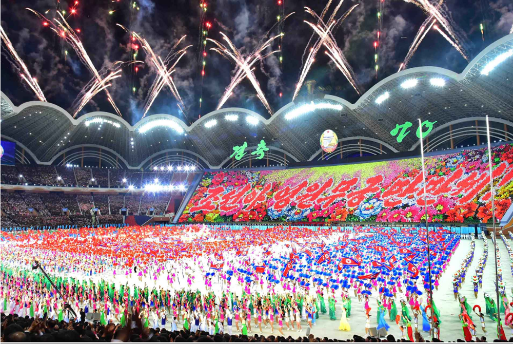 Mass games in Pyongyang.