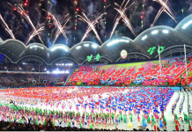 Mass games in Pyongyang