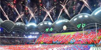Mass games in Pyongyang