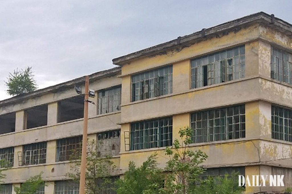 An abandoned factory in Jilin Province scheduled to re-open and employ North Korean labor