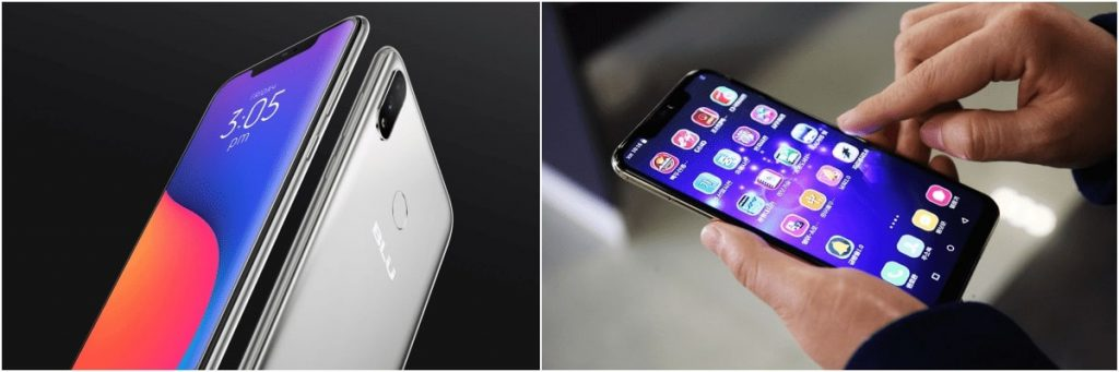 BLU VIVO XI (left) and the Pyongyang 2425 (right)