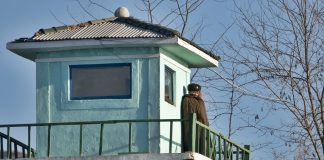 Guard post and checkpoint in North Pyongan Province.