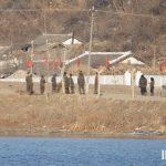 North Korean soldiers in Sakju County, North Pyongan Province