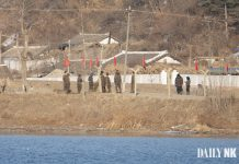North Korean soldiers in Sakju County, North Pyongan Province enlistees