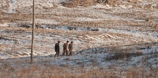 North Korean soldiers in Saju County, North Pyongan Province arrested