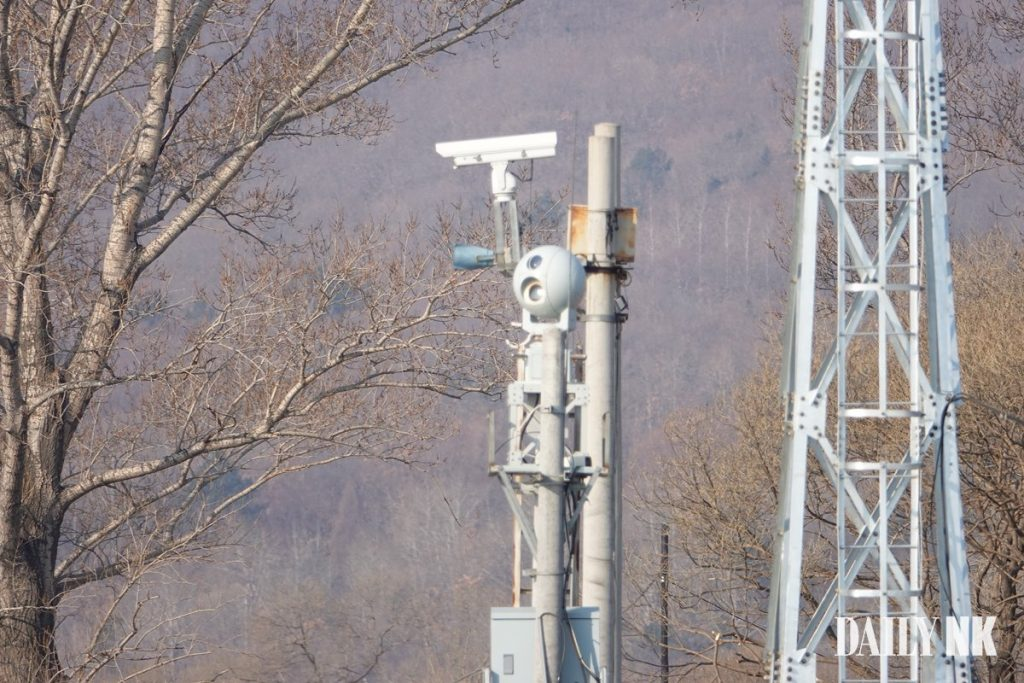 Camera surveillance equipment on the Sino-North Korea border