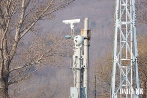 Camera surveillance equipment on the Sino-North Korea border