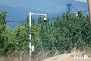 CCTV camera in Jilin Province on the China-North Korea border