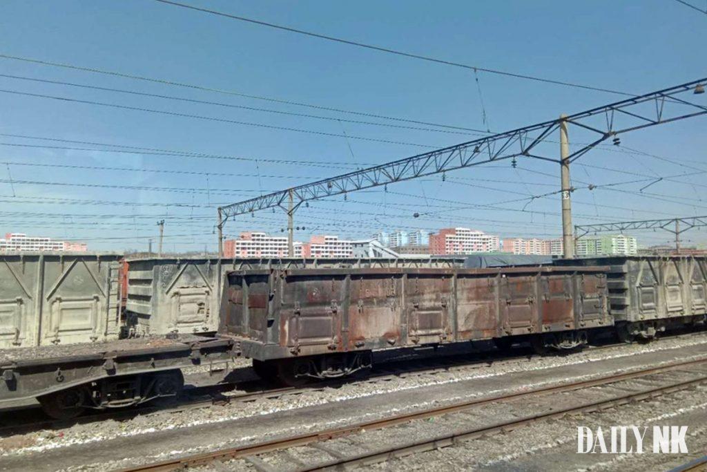 North Korean freight train