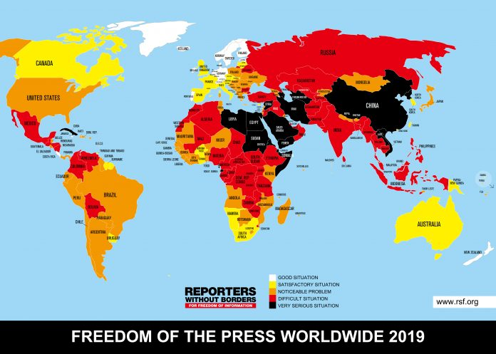 RSF 2019 Index Map