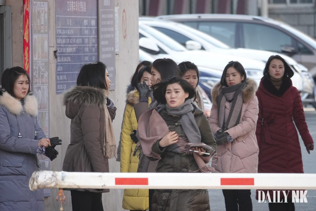 North Korean women in Dandong