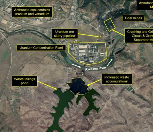 Satellite view of Pyongsan mine