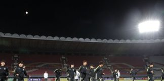 South Korean soccer team Kim Il Sung Stadium