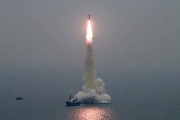 Launch of North Korea SLBM