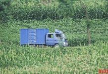 North Korean delivery truck