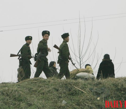 North Korean soldiers electricity discharge