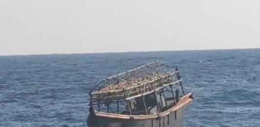 defector wooden boat