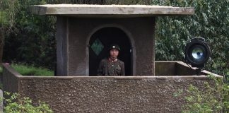 North Korean soldier secretly defectors