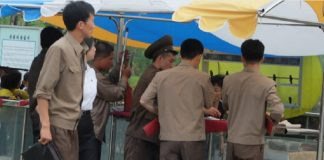 Wonsan park north korean police