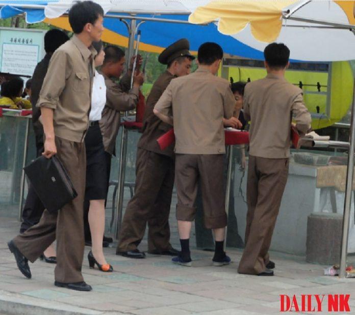 Wonsan park north korean police