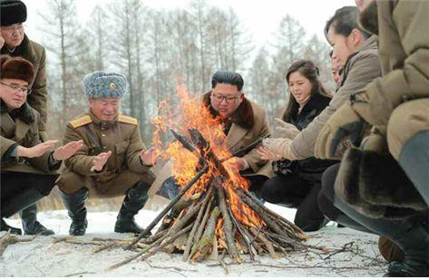 mount paektu ascent campfire