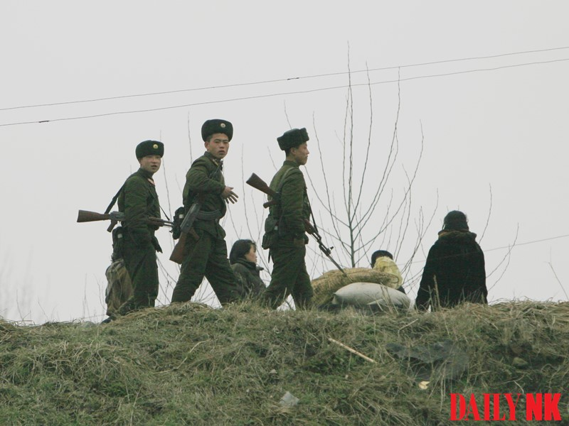 North Korean soldiers in North Pyongan Province