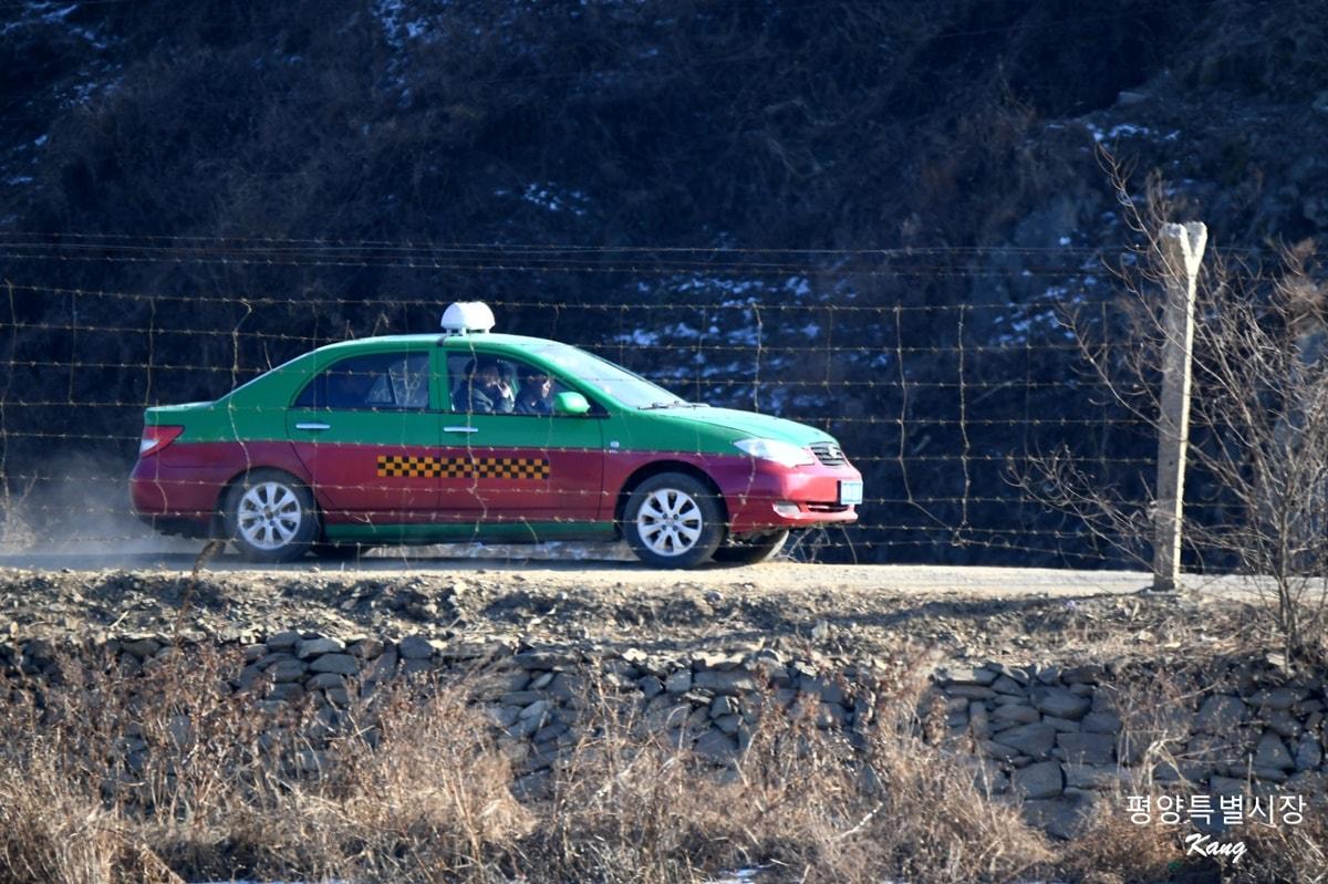 북중 국경지역 택시
