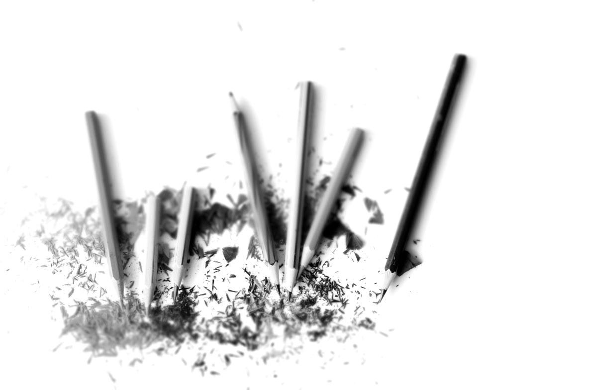 낙서 연필