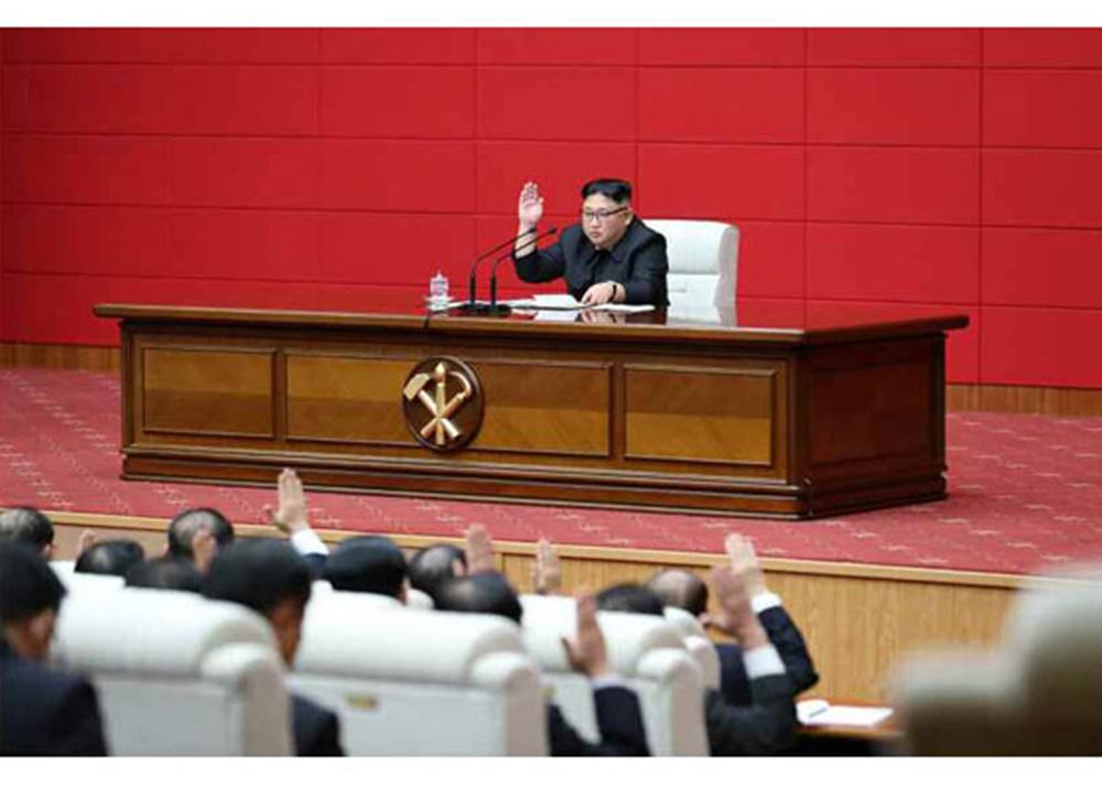 김정은 전원회의 주재