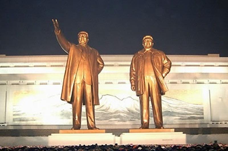 북한 야간 조명