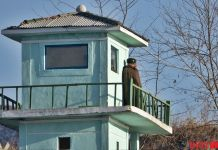 평안북도 압록강 국경경비대 하전사 군인 군대 북한군 초소